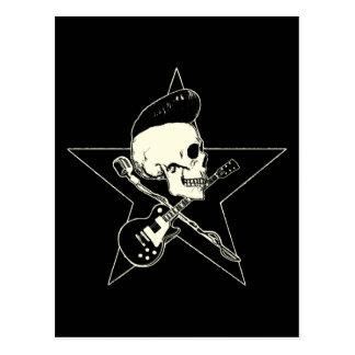 rock n rodada Skull Tarjetas Postales