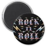 Rock-n-Roll 2 Inch Round Magnet