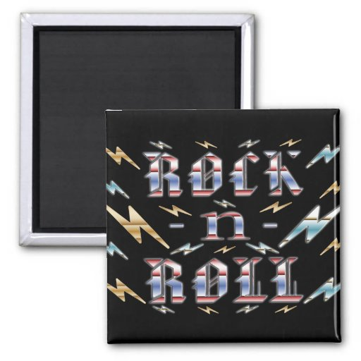 Rock-n-Roll 2 Inch Square Magnet