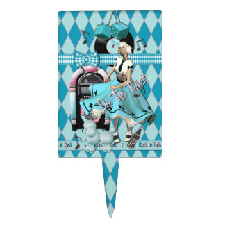 Rock n Roll 50's Topper Cake Toppers