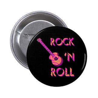 Rock 'n Roll Acoustic Guitar Button