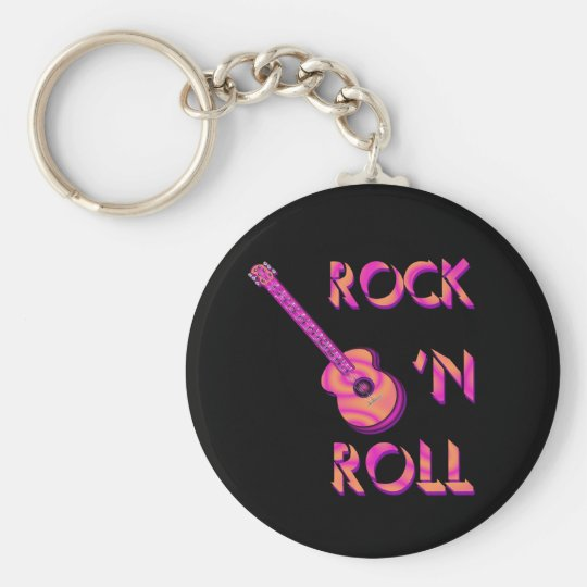 Rock 'n Roll Acoustic Guitar Keychain