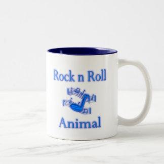 Rock n Roll Animal Two-Tone Coffee Mug
