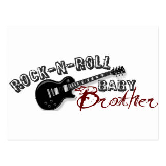Rock-n-Roll Baby Brother Postcard