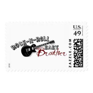 Rock-n-Roll Baby Brother Stamps