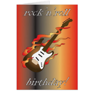 rock 'n' roll birthday greeting card
