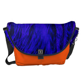 Rock n' Roll Blue & Orange Beast Large Messenger Courier Bags