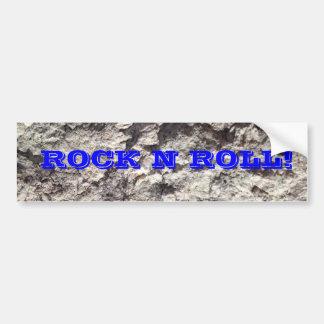 ROCK N ROLL BUMPER STICKER