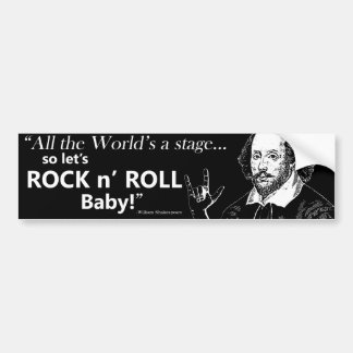 Rock n' Roll Bumper Sticker - Black
