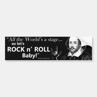 Rock n' Roll Bumper Sticker - Black