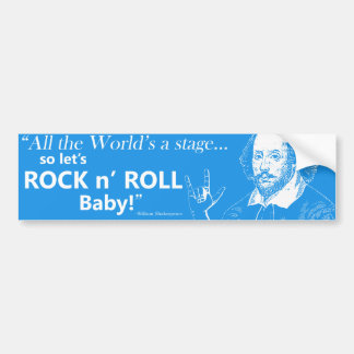 Rock n' Roll Bumper Sticker - Blue