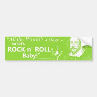 Rock n' Roll Bumper Sticker - Green