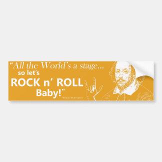 Rock n' Roll Bumper Sticker - Orange