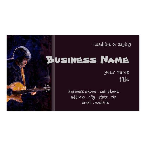 Rock n Roll Business Card Template