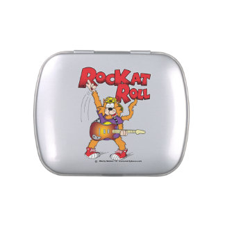 Rock n Roll Cat Candy Tin
