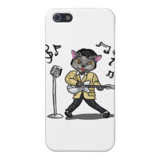 Rock 'n' Roll Cat Cover For iPhone SE/5/5s