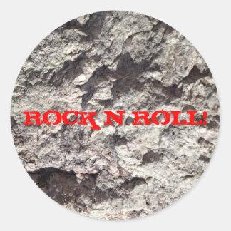 ROCK N ROLL! CLASSIC ROUND STICKER