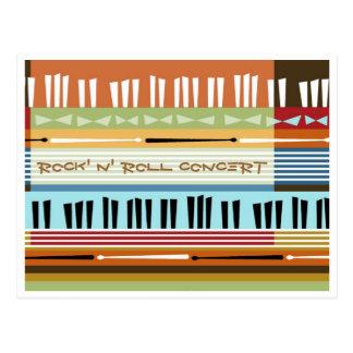 Rock N Roll Concert Postcard