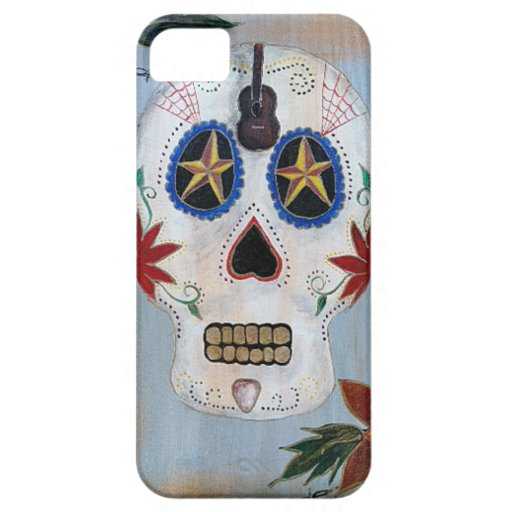 Rock N Roll Day of the Dead  Skull iPhone 5 Covers
