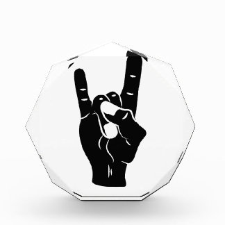 Rock n Roll Devil Horns Acrylic Award