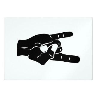 Rock n Roll Devil Horns Card