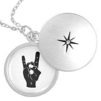 Rock n Roll Devil Horns Locket Necklace