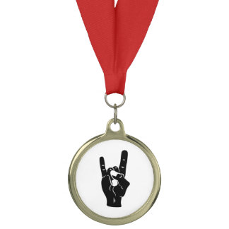 Rock n Roll Devil Horns Medal