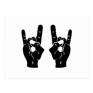 Rock n Roll Devil Horns Postcard