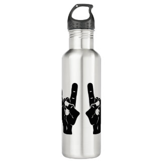 Rock n Roll Devil Horns Stainless Steel Water Bottle