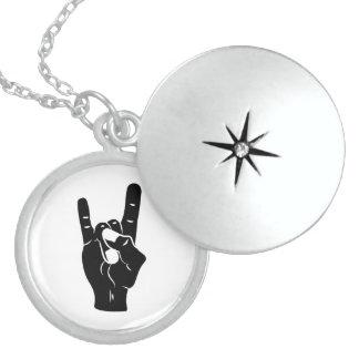 Rock n Roll Devil Horns Sterling Silver Necklace