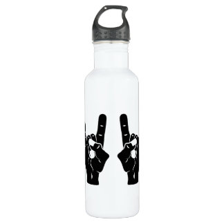 Rock n Roll Devil Horns Water Bottle