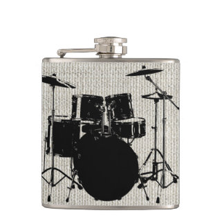 Rock n Roll Drums Flask