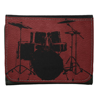 ROCK N ROLL DRUMS LEATHER WALLETS