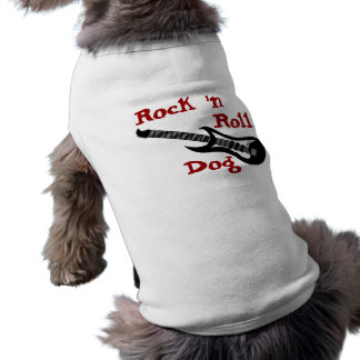 Rock n Roll Electric Guitar Rocker Dog Costume Pet Clothing