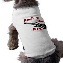 Rock n Roll Electric Guitar Rocker Dog Costume T-Shirt
