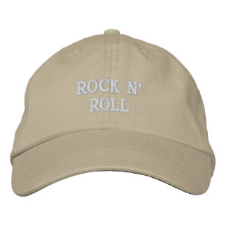 ROCK N' ROLL EMBROIDERED BASEBALL CAP