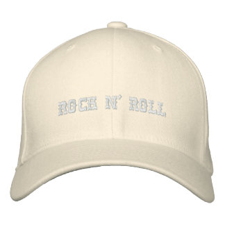 ROCK N' ROLL EMBROIDERED BASEBALL HAT