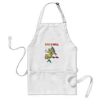 Rock-N-Roll Fish Adult Apron