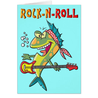 Rock n roll fish gifts t shirts art posters other for Rock n fish