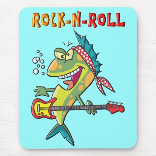 Rock-N-Roll Fish Mouse Pad