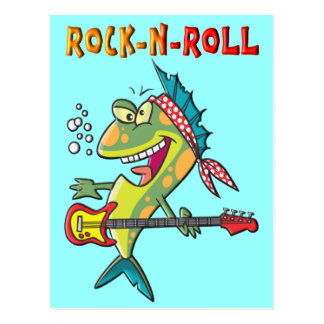Rock-N-Roll Fish Postcard
