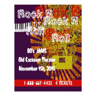 Rock N Roll Flyer 80s Jam