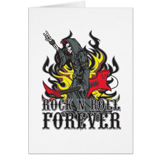 Rock N Roll Forever Greeting Cards