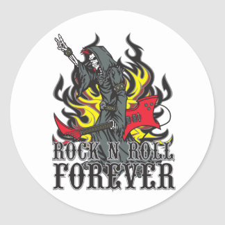 Rock N Roll Forever Round Stickers