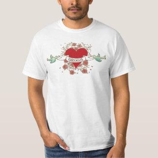 Rock 'n' Roll Groom T-shirt (Roses)