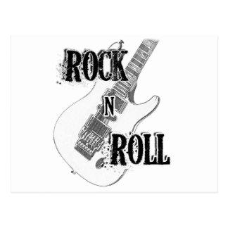 rock n roll guitar postcard