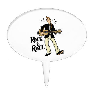 rock n roll guy playing guitar black.png cake picks