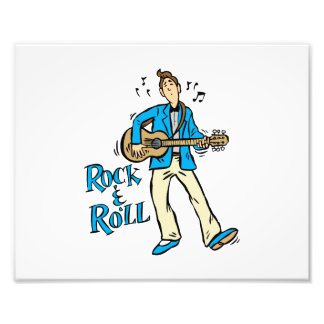 rock n roll guy playing guitar blue.png photo