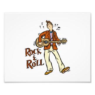 rock n roll guy playing guitar brown.png photo