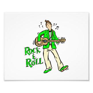 rock n roll guy playing guitar green.png photo